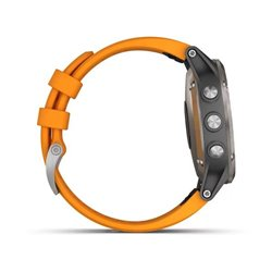 fenix 5 Plus Sapphire Titanium з помаранчевим ремінцем