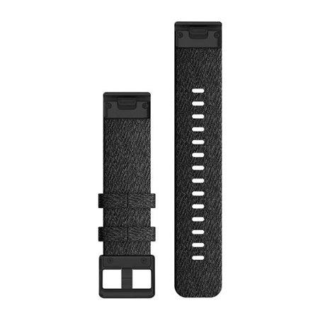 Нейлоновий ремінець QuickFit 20 Heathered Black Nylon with Black Hardware