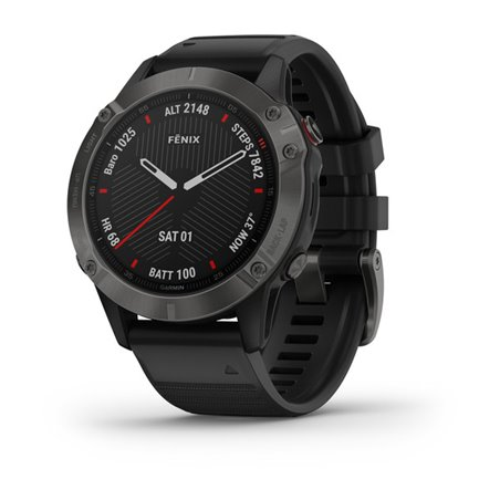 fеnix 6 - Carbon Gray DLC with Black Band