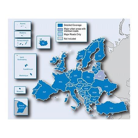 "Карта Європи Garmin ""City..."