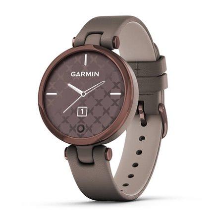 Смарт-годинник Garmin Lily CLASSIC Безель з темної бронзи, чохол Paloma і італійський шкіряний ремінець