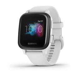 Смарт-часы Garmin Venu Sq Music Edition с грифельным безелем, белым корпусом и силиконовым ремешком
