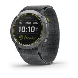 Смарт-часы Garmin Enduro стальной с серым нейлоновым ремешком UltraFit