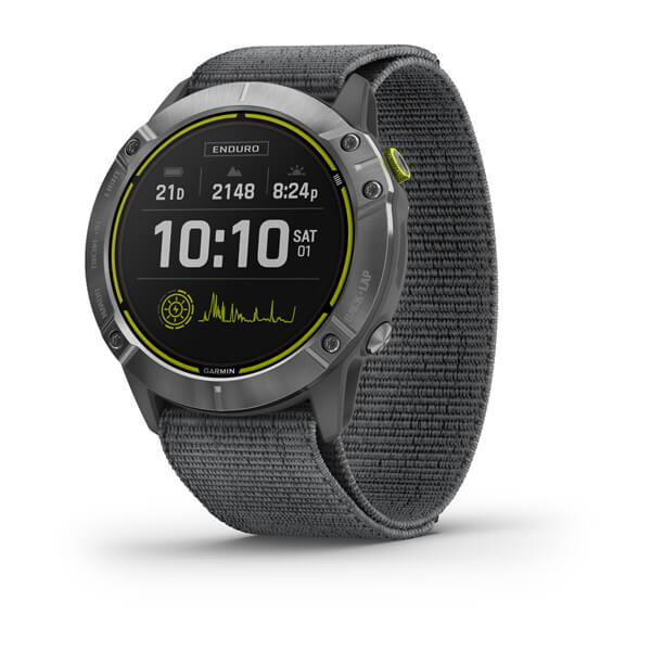 Смарт-годинник Garmin Enduro сталевий з сірим нейлоновим ремінцем UltraFit