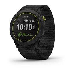 Смарт-часы Garmin Enduro серый титановый DLC с черным нейлоновым ремешком UltraFit