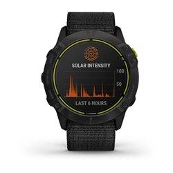 Смарт-годинник Garmin Enduro сірий титановий DLC з чорним нейлоновим ремінцем UltraFit