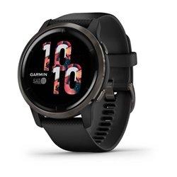 Смарт-годинник Garmin Venu 2 чорний із грифельним безелем