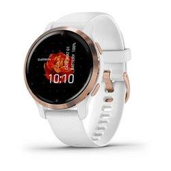 Смарт-годинник Garmin Venu 2S білий із рожево-золотистим безелем