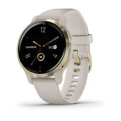 Смарт-годинник Garmin Venu 2S світло-пісочний із золотистим безелем