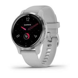 Смарт-годинник Garmin Venu 2S сірий зі сріблястим безелем