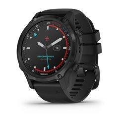 Смарт-годинник Garmin Descent Mk2S карбоново-сірий DLC з чорним ремінцем