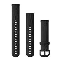 Швидкозмінні ремінці Garmin силіконові (20 мм) чорні