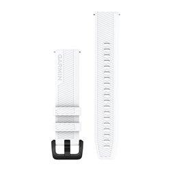 Швидкозмінні ремінці Garmin силіконові (20 мм) білі з чорною фурнітурою із нержавіючої сталі
