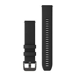 Швидкозмінні ремінці Garmin силіконові (20 мм) чорні з бронзовою фурнітурою