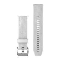 Швидкозмінні ремінці Garmin силіконові (20 мм) білі з фурнітурою із полірованого срібла
