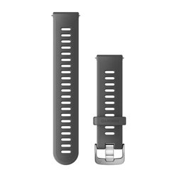 Швидкозмінні ремінці Garmin силіконові (20 мм) сірі