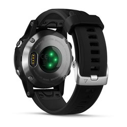 fenix 5S Plus Silver with Black Band