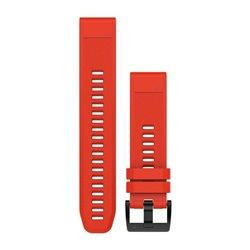 Ремінці для годинника Garmin QuickFit 22 силіконові, полум'яно-червоні
