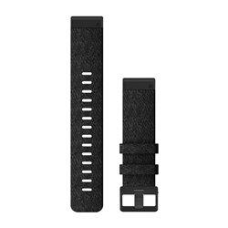 Ремінці для годинника Garmin QuickFit 22 нейлонові, чорні