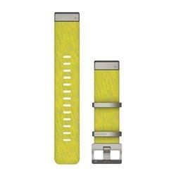 Ремінці для годинника Garmin QuickFit 22 нейлонові жаккардового плетіння, жовто-зелені