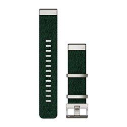Ремінці для годинника Garmin QuickFit 22 нейлонові жаккардового плетіння, сосново-зелені