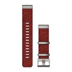Ремінці для годинника Garmin QuickFit 22 нейлонові жаккардового плетіння, червоні
