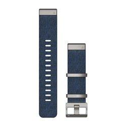 Ремінці для годинника Garmin QuickFit 22 нейлонові жаккардового плетіння, індиго
