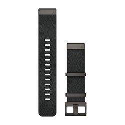 Ремінці для годинника Garmin QuickFit 22 нейлонові жаккардового плетіння, чорні