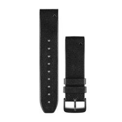 Ремінці для годинника Garmin QuickFit 22 шкіряні, перфоровані чорні