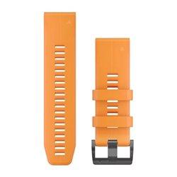 Ремінці для годинника Garmin QuickFit 26 силіконові, сонячно-оранжеві