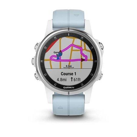 fenix 5S Plus,Glass,Wht w/Sea Foam Bnd,GPS Watch,EMEA